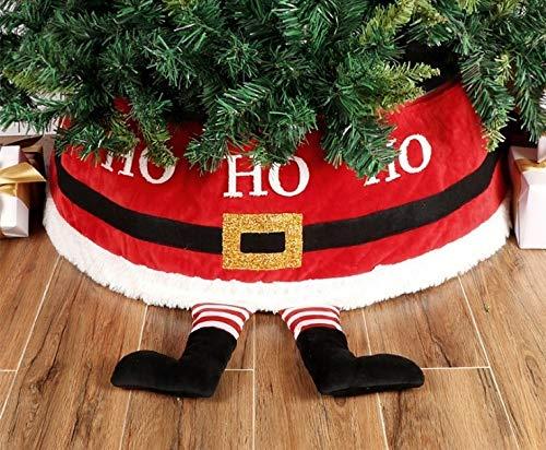 Santen Falda para árbol de Navidad – mimbre para árbol de Navidad – para árbol de Navidad – Para árboles de 1,8 m y debajo (gris, 67 cm de diámetro)