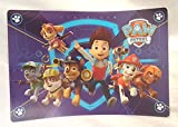 Zak Design Paw Patrol Group on Blue Paw Patrol Shield Design Inspired Kids Mealtime Plastic Placemat ~ Makes Clean Up a Breeze!