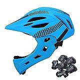 子供用スケートボードキッズバイクマルチスポーツヘルメット、取り外し可能なプロ仕様の保護用フルヘルメット、快適さと安全のために完全に調