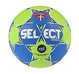 SELECT Scorpio Ballon de Handball Adulte Unisexe, Bleu-Verre Taille 2
