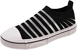 BeiaMina Woman Flat Sneaker Slip On Stripes Summer Shoes