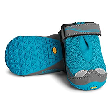Ruffwear - Grip Trex, All-Terrain Paw Wear for Dogs, Blue Spring, 2.0 in (Set of 4)