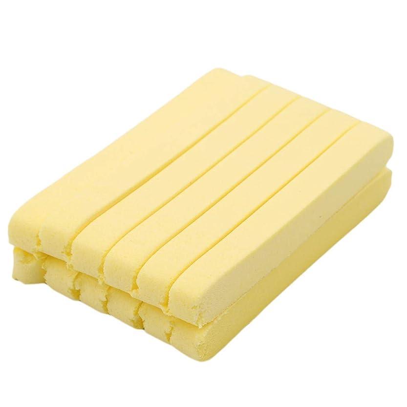 散歩に行く気まぐれな犠牲GOMYIE 12ピースコンプレッションサロンスパクレンジングローションパフスポンジスティッククレンザー(黄色)