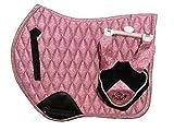 Equipride GP - Sottosella con velo scintillante, colore: Rosa
