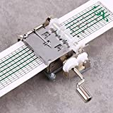 Ejoyous - Caja de música de manivela con 15 notas, manivela de mano, mecanismo musical de bricolaje con 20 tiras en blanco blancas, caja de música de zinc DIY para familiares y amigos
