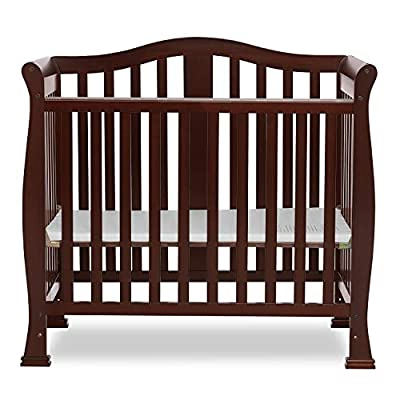 Dream On Me Addison 4-in-1 Convertible Mini Crib in Espresso, Greenguard Gold Certified from DREAS