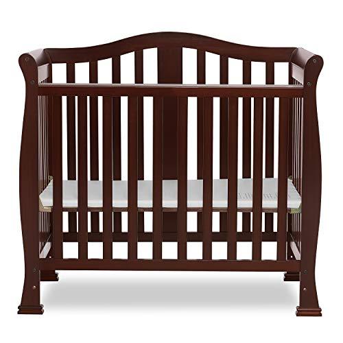 Dream On Me Addison 4-in-1 Convertible Mini Crib in Espresso, Greenguard Gold Certified