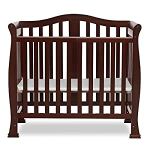 Dream On Me Addison 4 in 1 Convertible Mini Crib, Espresso