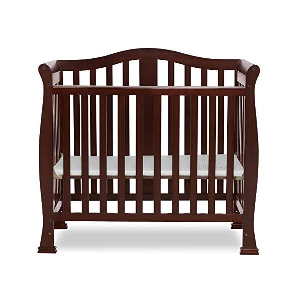Dream On Me Addison 4 in 1 Convertible Mini Crib, Espresso