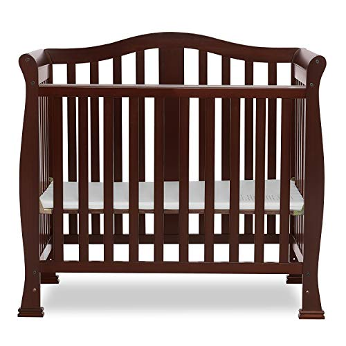 Dream On Me Addison 4-in-1 Convertible Mini Crib in Espresso, Greenguard Gold...