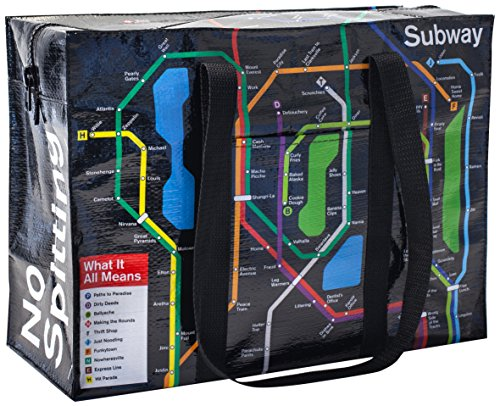 Shoulder Tote - Blue Q - Subway 15x11' Shopping Bag New QA640