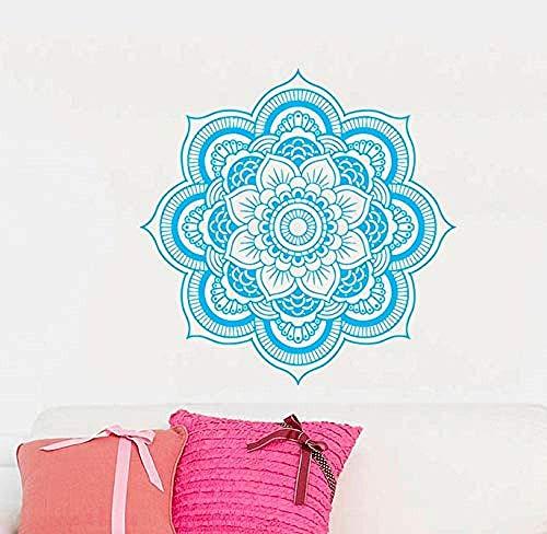 Muurstickers muurschilderingen Decals Vinyl Artiest Thuis Mandala Indian Ornament Geometrische Marokkaanse patroon Yoga Lotus 57X57cm