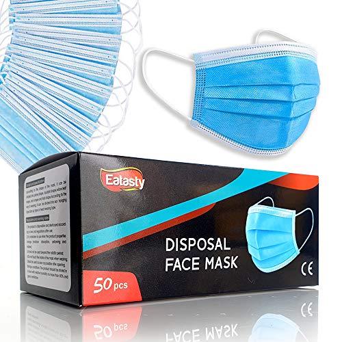 3-lagige Gesichtsmasken für Erwachsene, Einweg-Mundschutz, atmungsaktive Gesichtsbedeckungen, Motorrad, Gesichtsmasken, atmungsaktiv, kein Beschlagen, für die ganze Familie - 4