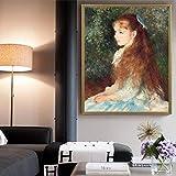 KWzEQ Imprimir en Lienzo Chica Bonita Pared Arte Imagen Sala de Estar decoración del hogar50x60cmPintura sin Marco