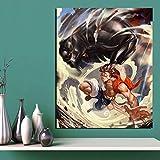 KWzEQ Anime Dibujos Animados Imagen más Bella impresión Sala de Estar decoración del hogar Moderno Arte de la Pared Pintura al óleo póster,Pintura sin Marco,40x50cm