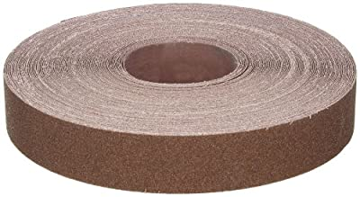 "Norton K225 Metalite Abrasive Roll, Cloth Backing, Aluminum Oxide, 1-1/2"" Width x 50yd Length, Grit P80"