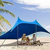 GRAVFORCE Family Beach Tent, Pop Up Beach Sunshade...