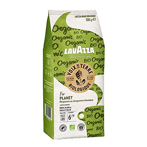 Lavazza Café en Grains Les Voix de la Terre For Planet, Café en grains 100% Arabica biologique, Torréfaction Moyenne et Légère, Paquet de 500g