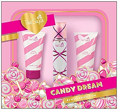 AQUOLINA CONF. PINK SUGAR CANDY DREAM edt. 50 ml. & latte corpo 50 ml. & bagnoschiuma 50 ml.