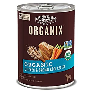 Castor & Pollux Organix Canned Wet Dog Food Organic with Healthy Grains Recipe (12) 12.7 oz Cans