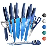 Wanbasion 16 Pieces Kitchen Knife Set Dishwasher Safe, Professional Chef Kitchen Knife Set, Kitchen...