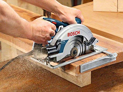 Bosch Professional Handkreissäge GKS 190 (mit 1 Sägeblatt 190 mm, 70 mm Schnitttiefe, 1,400 W) blau, 0601623000 - 4