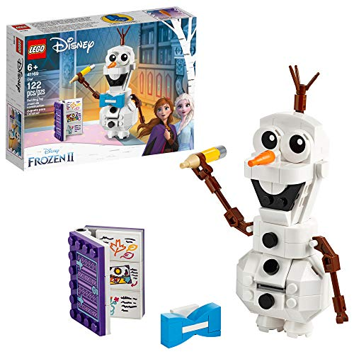 LEGO Disney Frozen II Olaf 41169 Olaf Snowman Toy Figure Building Kit Christmas Gift, New 2019 (122 Pieces)
