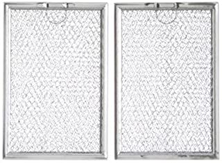 WB06X10309 Microwave Grease Filter - 2 Pack For GE Microwave-Aftermarket Replacement WB06X10359 ( Size 7.6'' X 5.1'')