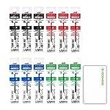 三菱鉛筆 uni ジェットストリーム 替芯 0.38mm SXR-80-38 4色各3本セット ロコネコ試筆カード