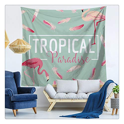 KHKJ Envío de la Gota Cactus Acuarela Tapices de Pared Colgantes Mapa del Mundo Flamingo Tapiz Paisaje Papel Tapiz Arte de la Pared Chal Throw A3 150x130cm