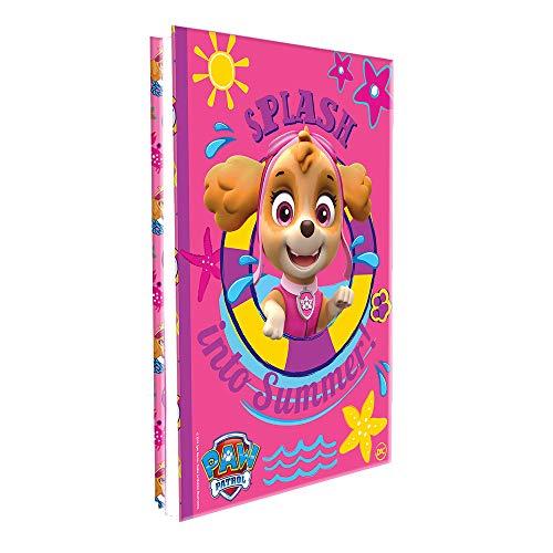 Pasta Catálogo Patrulha Canina Feminino Lombo Ajustável com 10 Envelopes Médio e 4 Colchetes, DAC, 2646, Multicor