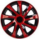 NRM KO238 Radzierblende Draco CS, Schwarz/Rot, 14 Zoll, 4er Set