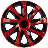 NRM kO238 enjoliveur Draco CS-Noir/Rouge - 14'- 4 pièces