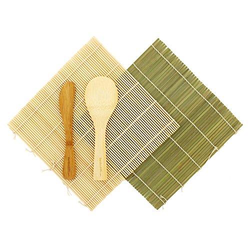 BambooMN Sushi Maker Kit | 100% Bamboo Mats and Utensils