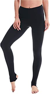 Whitewed Women's Solid Nylon Yoga Fitness Sports Stirrup Leggings Pants w Pocket
