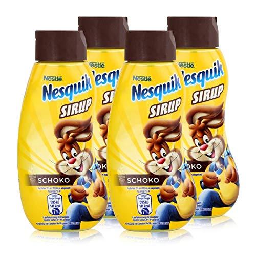 Nestle Nesquik Schoko Sirup 300ml - Extra schokoladig im Geschmack (4er Pack)