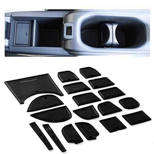 CupHolderHero fits Honda HRV Accessories 2016-2021 Premium Custom Interior Non-Slip Anti Dust Cup Holder Inserts, Center Console Liner Mats, Door Pocket Liners 22-pc Set (Solid Black)