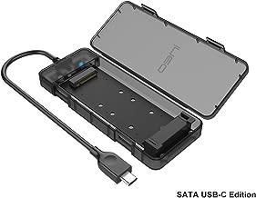 SATA M.2 SSD a USB 3.1 Gen2 Caja de Carcasa con USB Tipo C Cable, NG-2575C NGFF M2 SSD Adapter Case para Disco Duro, SATA Estuche Caddy Adaptador Convertidor para 2230/2242/2260/2280, Tool-Free