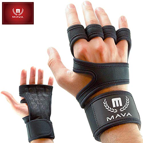 Mava Sports Cross Training Gloves with Wrist Support for WODs, Gym Workout, Weightlifting & Fitness-Extra Padding Against Calluses for Men & Women - Best Weight Lifting Gloves for a Strong Grip, Pair
