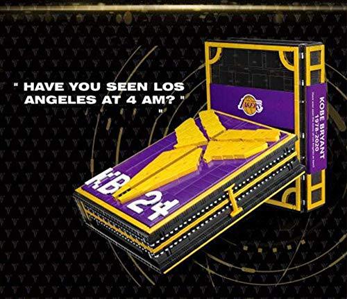NBA Star Kobe Doll Basket Basket Basket Book Boy Ensamblaje difícil Colección de Edificios Colección de Modelos Libro conmemorativo de iluminación y Control Remoto