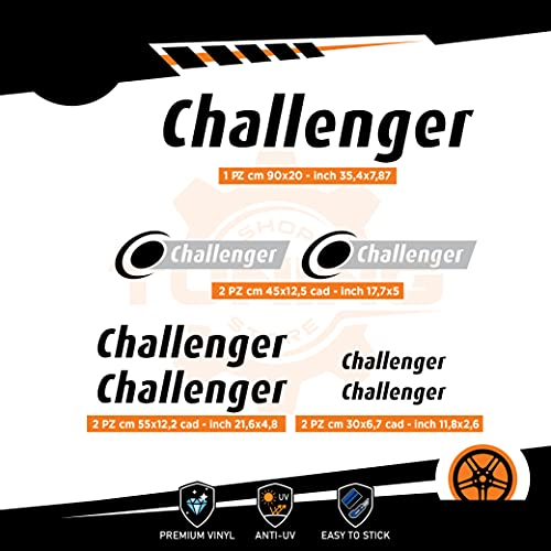 Generico Kit Adesivi Camper Challenger - Versione E