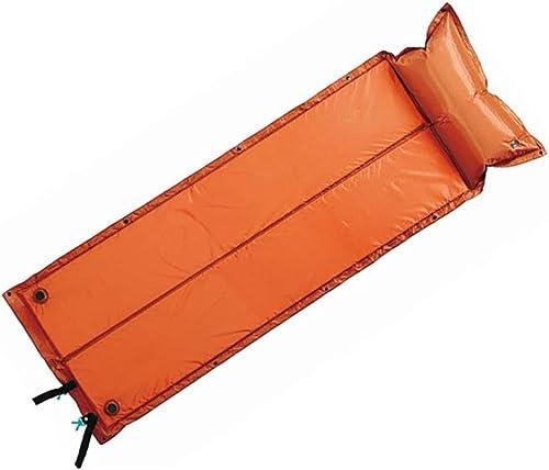 Ultraleger Matelas Gonflable,Tapis De Couchage Gonflable avec Coussin d'air Leeping Pad pour Randonnée Plage Voyage Camping,Orange