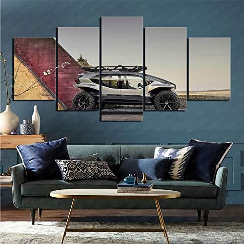 CELLYONE Kunstdruck auf Leinwand Fahrzeug Superauto AI-Trail Quattro Art Deco Anwendbarer Studienflur 100x50cm Rahmenlos