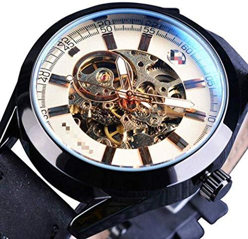 CMXUHUI Moda y elegante, aspecto exquisito, un g reloj de pulsera casual deportivo serie impermeable automático hombres reloj mecánico militar esqueleto relojes 24,5 cm