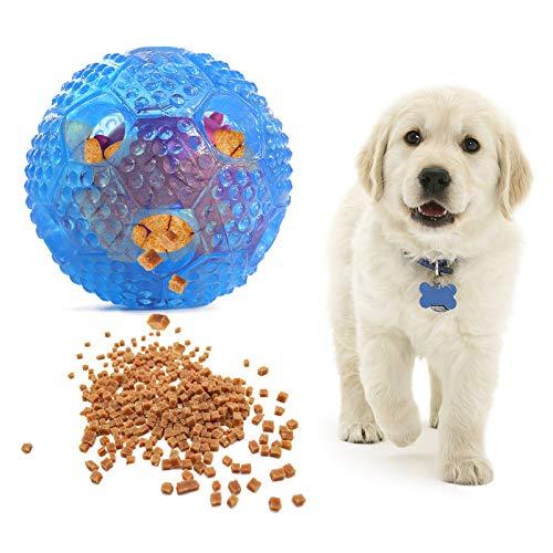 VECELA Juguetes para Perros, Pelotas para Perros Dispensador de Comida de Juguete para Perros - Bola Doble Interior - Limpiar Dientes de Perro