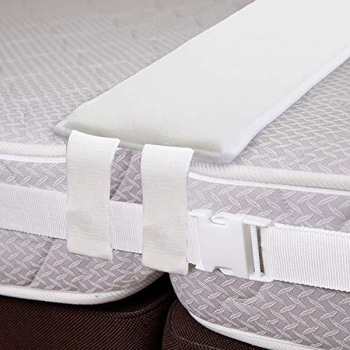 VIVILINEN Bed Bridge Kit Convertitore da Doppia a Matrimoniale Confortevole Ampia Fascia di Raccordo per Materasso con Imbottitura per Letto Matrimoniale con Memory Foam per Camera Familiare