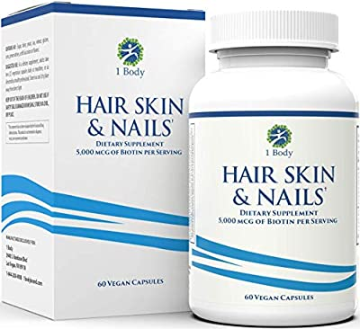 Hair, Skin, & Nails Vitamins ? 5000 mcg of Biotin to Make Your Hair Grow & Skin Glow with 25 Other Vitamins - Nail Growth and Skin Care Formula for Men & Women