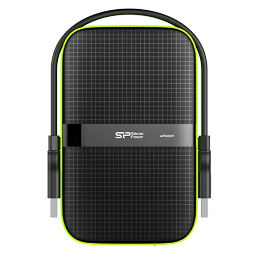 Silicon Power 1TB Type C USB 3.0 Rugged Armor A80 Military-Grade Shockproof//IPX7 Waterproof//Dustproof//Pressure-Resistant 2.5 Portable External Hard Drive for PC and Mac-Blue