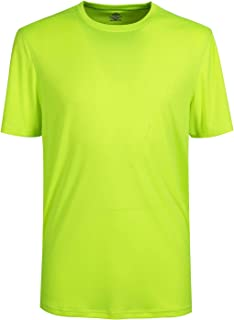 Mens Short Sleeve Tee Quick-Dri Crew Athletic T-Shirts