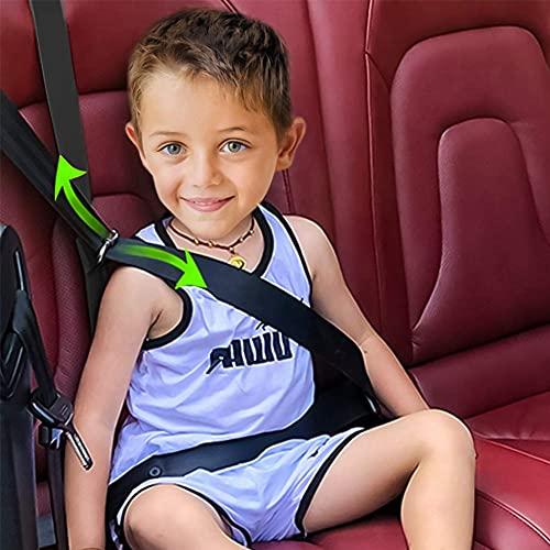 Seatbelt Adjuster for Kids,dadhot Universal Auto Shoulder Neck Strap Positioner Belt,Protective Safety Strap Adjuster Seatbelt(Black)